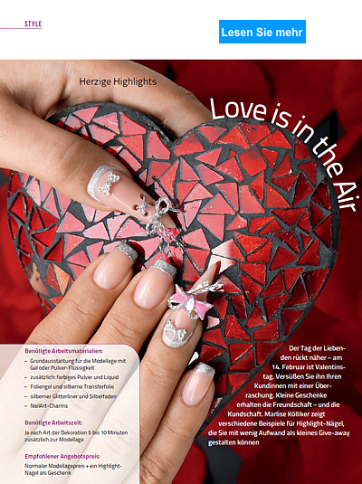 Nailart Step by Step Love is in the Air
