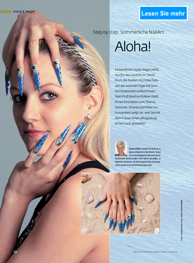 Step by step: sommerliche Nail Art