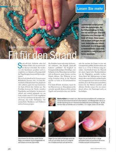 Nailart Step by Step Fit für den Strand